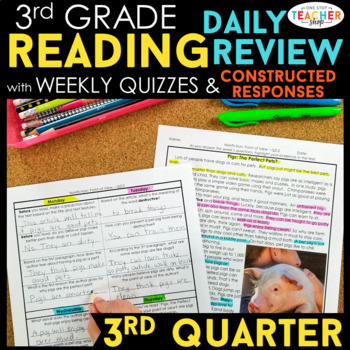 3rd Grade Reading Spiral Review   Reading Comprehension Passages   3rd Quarter