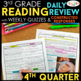 3rd Grade Reading Spiral Review | Reading Comprehension Passages | 4th Quarter