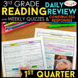 3rd Grade Reading Spiral Review | Reading Comprehension Passages | 1st Quarter