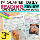3rd Grade Reading Review | Comprehension Passages & Questions | 1st QUARTER