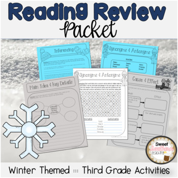 3rd Grade Reading Review Packet - No prep!