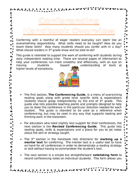 3rd Grade Reader's Workshop Conferencing Handbook