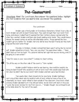 3rd Grade Reading Skills Pre-Assessments