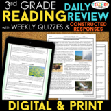 3rd Grade Reading Spiral Review, Quizzes & Constructed Res