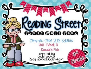 Reading Street 3rd Grade 2013 Focus Wall Posters Unit 1 Week 3