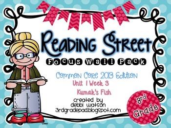 Reading Street 3rd Grade 2013 Focus Wall Posters Unit 1 Week 3