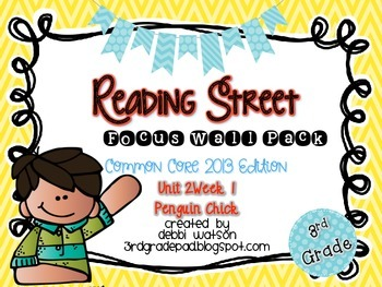 Reading Street 3rd Grade 2013 Focus Wall Posters Unit 2 Week 1