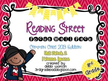 Reading Street 3rd Grade 2013 Focus Wall Posters Unit 2 Week 2