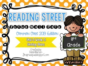 Reading Street 3rd Grade 2013 Focus Wall Posters Unit 3 Wk 3 Seeing Stars