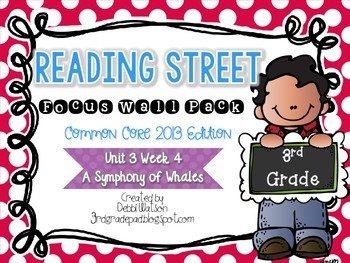 Reading Street 3rd Grade 2013 Focus Wall Posters Unit 3 Wk 4 Symphony of Whales