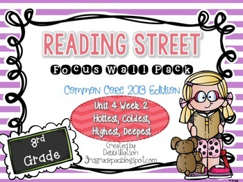 Reading Street 3rd Grade 2013 Focus Wall Posters Unit 4 Wk 2 Hottest, Coldest