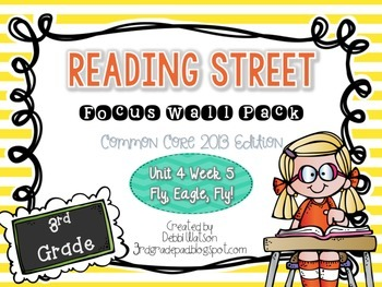 Reading Street 3rd Grade 2013 Focus Wall Posters Unit 4 Wk 5 Fly, Eagle, Fly!