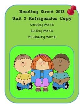3rd Grade Reading Street 2013 Unit 2 Refrigerator Copy