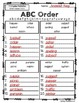 3rd Grade Reading Street Spelling - ABC Order UNITS 1-6