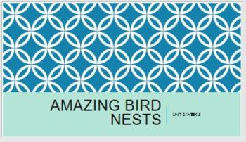 3rd Gr Reading Street 2.5 Unit 2 Week 5 Amazing Bird Nests PPT