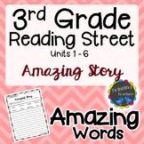 3rd Grade Reading Street Amazing Words - Writing Activity UNITS 1-6