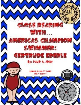 3rd Grade Reading Street Close Read America's Champion Swimmer