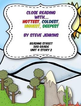 3rd Grade Reading Street Close Read Hottest Coldest Highest Deepest