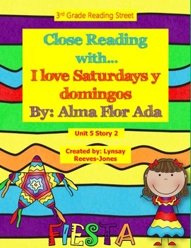 3rd Grade Reading Street Close Read I Love Saturdays y domingos