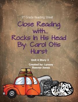 3rd Grade Reading Street Close Read Rocks In His Head