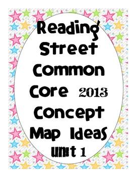 Reading Street Common Core 2013-Concept Map Ideas-Grade 3-Unit 1