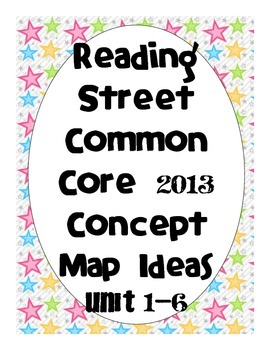 Reading Street Common Core 2013-Concept Map Ideas-Grade 3-ALL UNITS