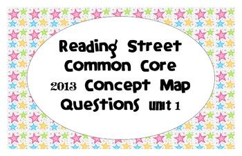 Reading Street Common Core 2013-Concept Map Questions-Grade3-Unit 1