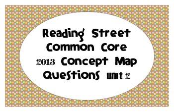 Reading Street Common Core 2013-Concept Map Questions-Grade 3-Unit 2