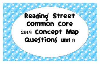 Reading Street Common Core 2013-Concept Map Questions-Grade 3-Unit 3