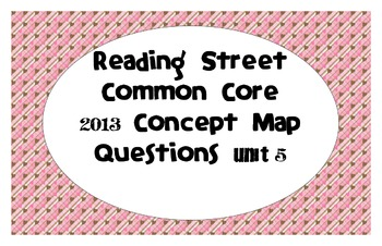 Reading Street Common Core 2013-Concept Map Questions-Grade 3-Unit 5