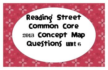 Reading Street Common Core 2013-Concept Map Questions-Grade3-Unit 6