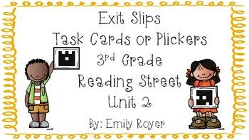 3rd Grade Reading Street Exit Slips- Unit 2