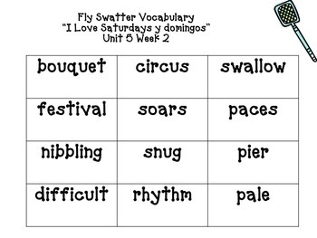 3rd Grade Reading Street Fly Swatter Game Unit 5