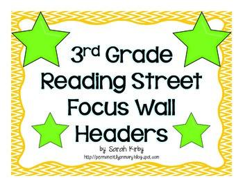 3rd Grade Reading Street Focus Wall Headers