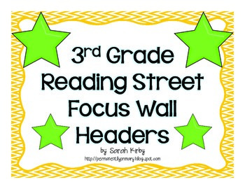 3rd Grade Reading Street Focus Wall Headers