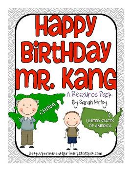 Happy Birthday Mr. Kang Resource Pack