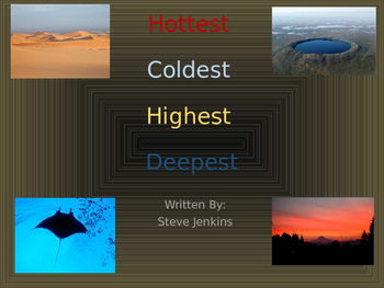 3rd Grade Reading Street: Hottest Coldest Highest Deepest