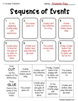 3rd Grade Reading Street Sequence of Events Activities UNITS 1-6