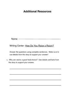 """3rd Grade Reading Street Series- """"How Do You Raise a Raisin"""""""