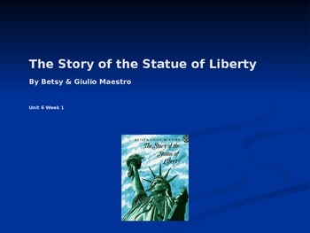 3rd Grade Reading Street The Statue of Liberty Vocab Power Point