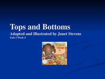3rd Grade Reading Street Tops and Bottoms Vocab Power Point