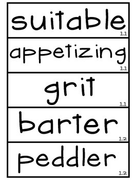 3rd Grade Reading Street Unit 1 Amazing Word Wall Cards