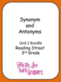 3rd Grade Reading Street Unit 1 Stories Synonyms and Antonyms Bundle