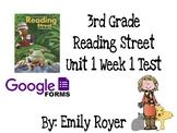 3rd Grade Reading Street Unit 1 Week 1 Google Test