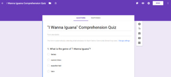 3rd Grade Reading Street Unit 2 Comprehension Assessments with Google Forms