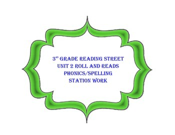 3rd Grade Reading Street Unit 2 roll and read words for st