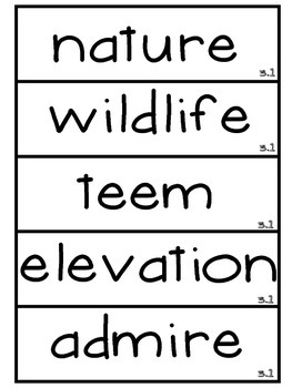 3rd Grade Reading Street Unit 3 Amazing Word Wall Cards