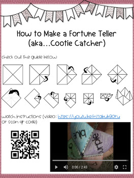 3rd Grade Reading Street Unit 3 Vocabulary Fortune Tellers