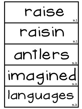 3rd Grade Reading Street Unit 3 Vocabulary Word Wall Cards