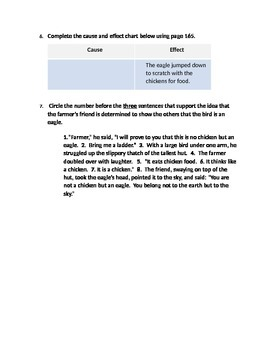 """3rd Grade Reading Street - Unit 4.5 """"Fly, Eagle, Fly"""" FSA Test Questions"""